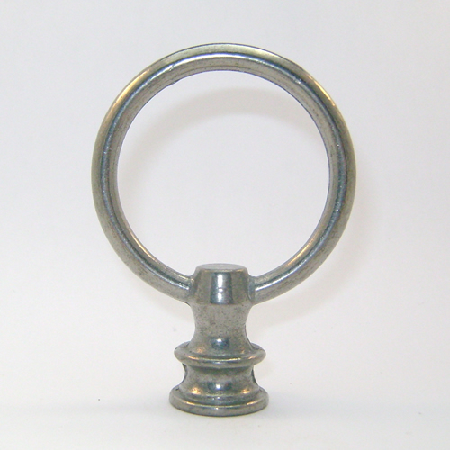 Lamp Finials Wholesale Lamp Finial: Pewter Finished Loop